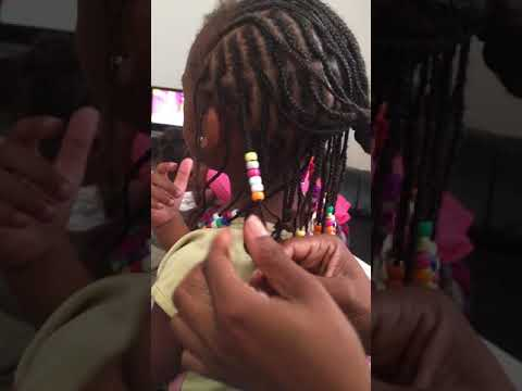 HOW TO STOP BEADS FROM FALLING OFF HAIR BRAIDS DIY VIDEO