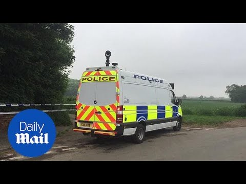 Emergency services at scene of Aldborough helicopter crash - Daily Mail