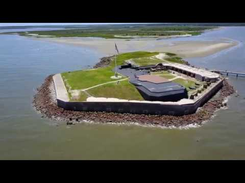 Fort Sumter - Charleston SC - Aerial