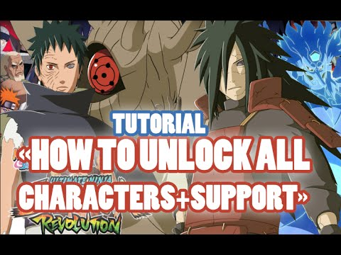 Naruto Shippuden Ultimate Ninja Storm Revolution - How To Unlock All Characters + Supports Tutorial