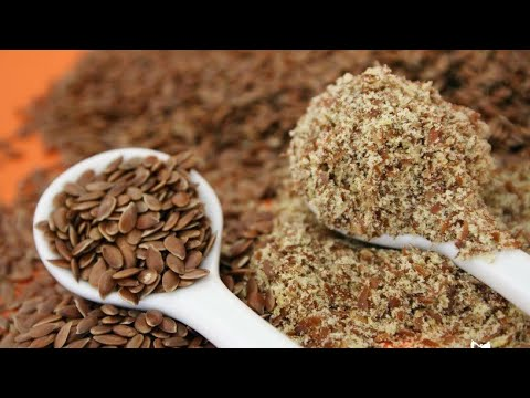 Super food flax seeds for Weight loss Anti aging Cancer Heart Bone and joints health Menopause