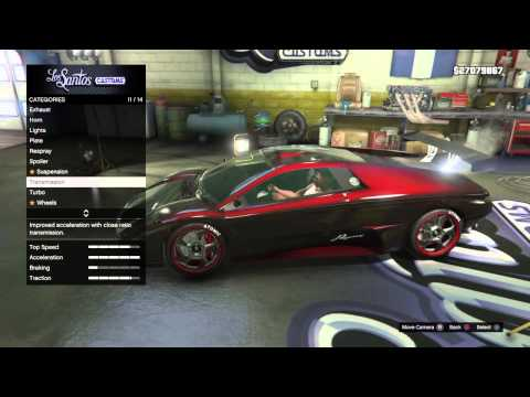 Gta 5 car tune tuning and driving infernus Grand Theft Auto V
