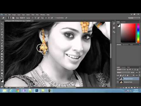 Black and white gold effects in photoshop | Tutorial video