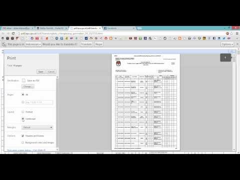 Cara Membuat File PDF di Google Chrome pada menu