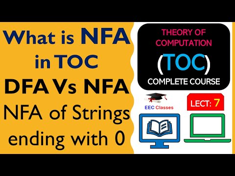 TOC Lecture 6: NFA Definition, Difference b/w DFA and NFA and Solved Example