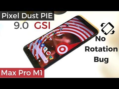 Pixel Dust PIE 9 0 (GSI) ROM on Zenfone Max Pro M1 | Treble