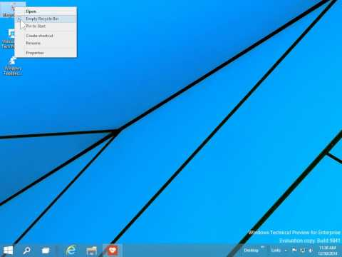 Windows 10  Pin the Recycle Bin to the Task Bar