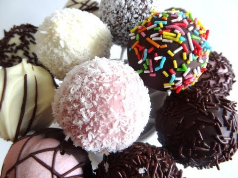 Receta de cake pops de chocolate y vainilla | Cake con molde | Cake pops fácil
