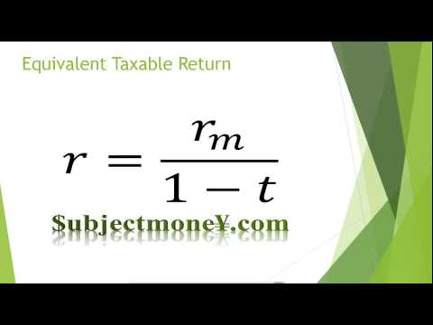 Taxable Corporate Bonds vs Municipal Bonds (Tax Exempt/Non-taxable) After Tax/Equivalent Formula