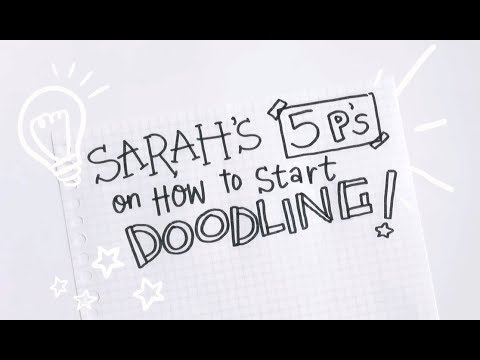 Tips on How to Doodle (Inspirational & Motivational Advice) | Doodles by Sarah