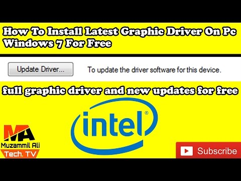how to install latest graphic drivers for your PC 2018