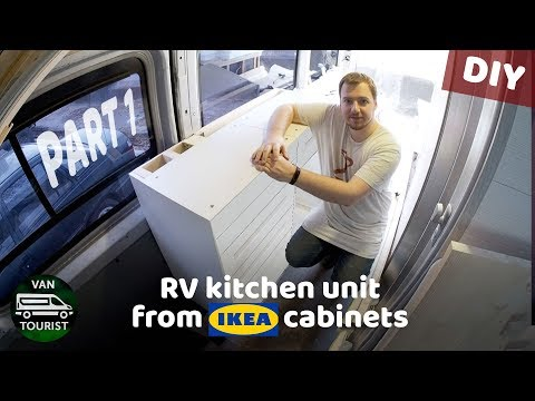RV kitchen build from IKEA cabinets. Diy campervan kitchen unit for simple van conversion - part 1