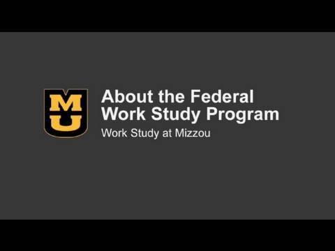 MU Financial Aid - Work Study