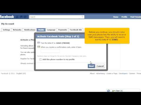 Receiving SMS Notifications from Facebook on a Mobile Phone - A Video from Gotwebhost.com