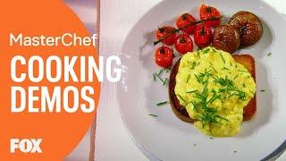 Gordon Ramsay Demonstrates How To Make The Perfect Scrambled Eggs | Season 8 Ep. 5 | MASTERCHEF