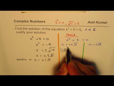Find Quadratic Equation Solution in Complex Domain and Justify Result