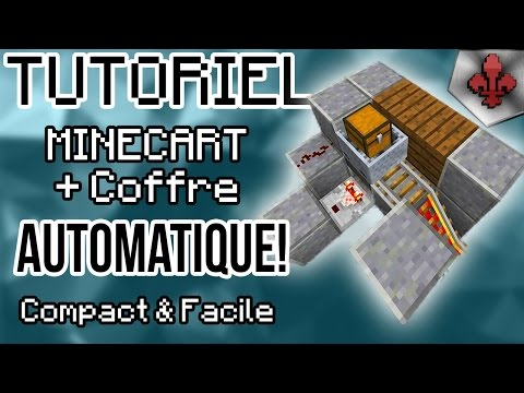 Minecraft | Coffre Minecart automatique! Facile et compact