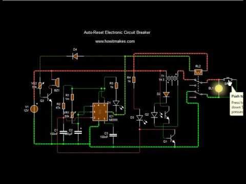 Auto-Reset Electronic Circuit Breaker  with buzzer