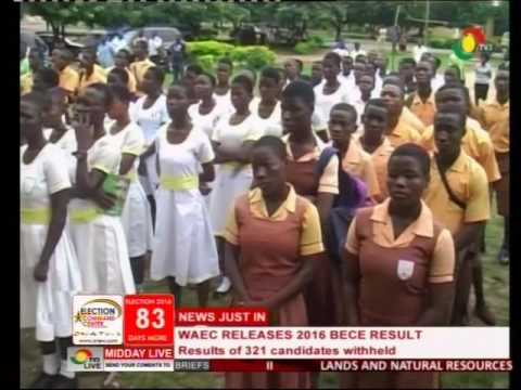 BECE: WAEC withholds results of 321 schools -14/9/2016
