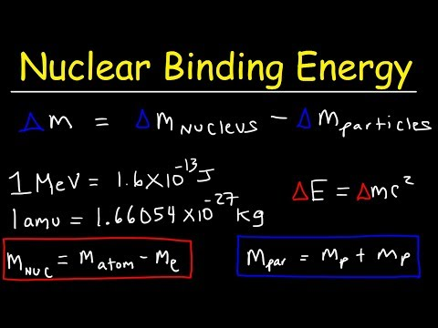 Nuclear Binding Energy Per Nucleon & Mass Defect Problems - Nuclear Chemistry
