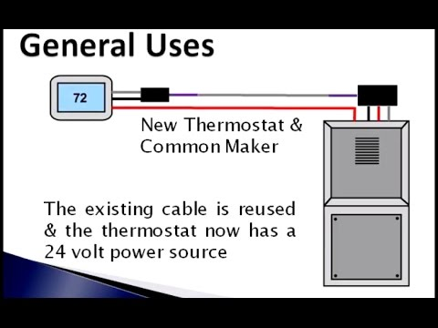 FAST STAT Common Maker - How to Install New Wi-Fi Thermostat without Running Wires or Cables