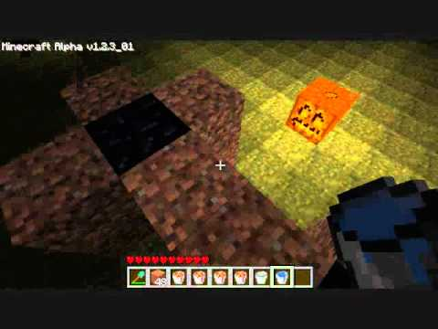 Minecraft Tutorial: How to make a portal without mining obsidian!