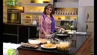 Suji Nariyal Ka Jama Hua Halwa And Ragda Chaat by Sara Riaz   Zaiqa