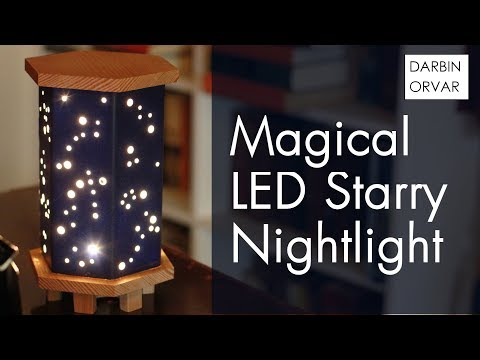 LED Night Light w/ Wood, Foamboard & Fairy Lights