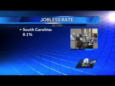 Unemployment rate in Carolinas