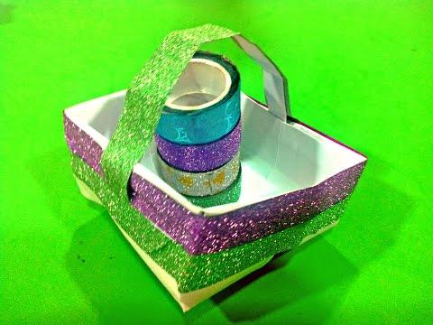 DIY - How to make Paper Basket -- Life Hacks For Kids
