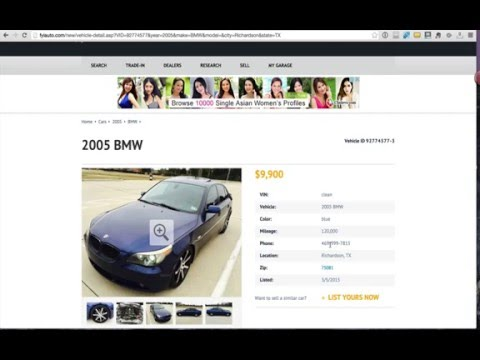 Buying A Used Car Off Craigslist - How To Spot a Scammer or Flipper