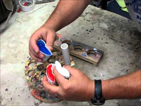 Three color resin pen blank making