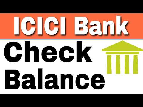 How To Check ICICI Bank Balance by SMS And Missed Call From Home