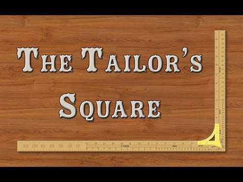 Pattern Drafting: The Graduated Tailor's Drafting Square (or L-Rule)