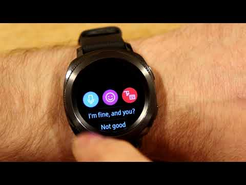Samsung Gear Sport - Receiving and Responding to Text Messages with Voice,Text, Emoj,doodles etc