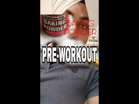Baking powder as pre-workout drink? Results | 1st time use | Gym High