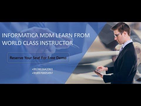 Informatica MDM Demo | Informatica MDM Training Videos
