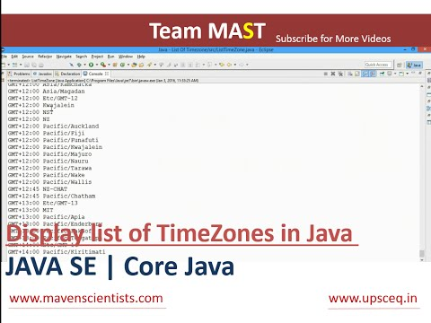 Java - Display list of timezones in Java | Team MAST