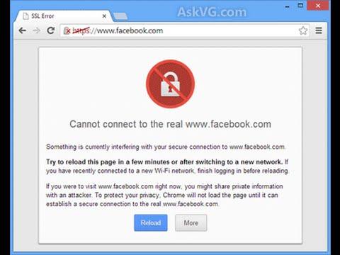 Fix SSL Error Invalid Security Certificate Error with Facebook&google chrome