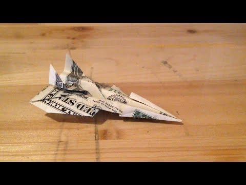 Origami - How to Make an EPIC Fighter Jet out of Money