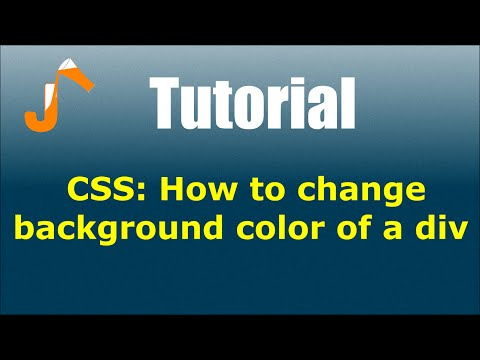CSS: How to change background color of a div