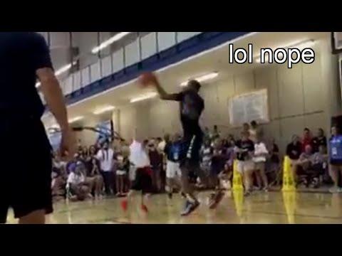 Kevin Durant Swatting Kids Shots at his Basketball Camp - Tough Love?