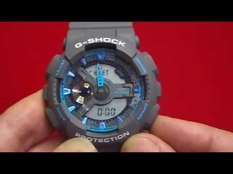 Ajustar la hora a un reloj casio g shock tipo GA 110