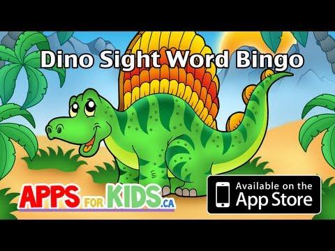 Dino Sight Word Bingo