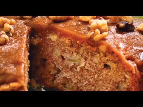 Apple Cake with Brown Sugar Glaze