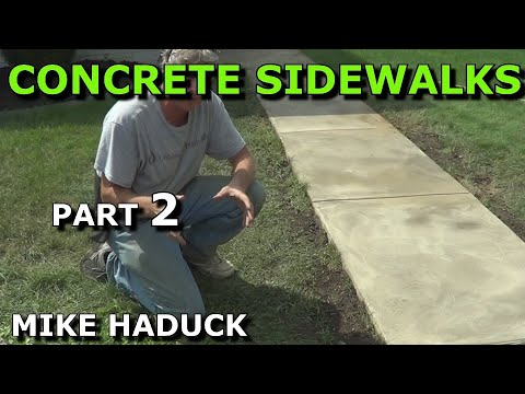 How I pour a concrete slab (part 2 of 4) Mike Haduck