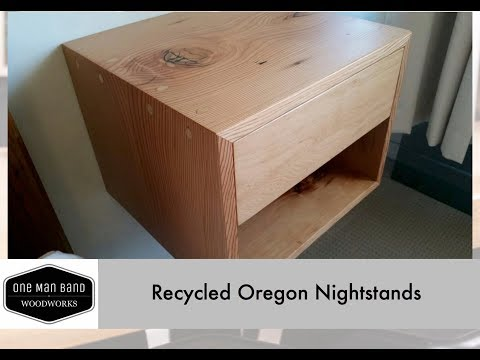 Making floating nightstands from recycled wood