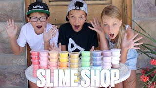MAKING 13 DIFFERENT SLIMES FROM ONE GALLON OF GLUE HOW TO MAKE SLIME MAKING SLIME STORE