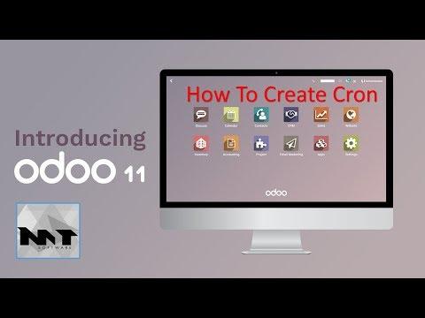 How To Create Cron on Odoo 11
