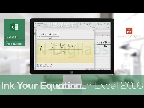 VideoExcel - How to insert equation in Excel 2016 using the Ink Equation tool